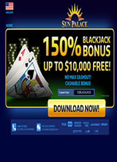 Sun Palace Casino - Mobile Blackjack Option